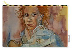 Carry-all Pouch featuring the painting Sketch For Sarah by Ray Agius