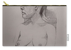 Sketch For Sitting Cassie Carry-all Pouch by Ray Agius