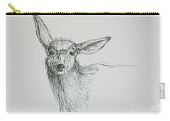 Sketch Of A Mule Deer Doe Carry-all Pouch
