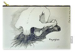 Carry-all Pouch featuring the painting Sketch Of Sera.10.03 by Ray Agius