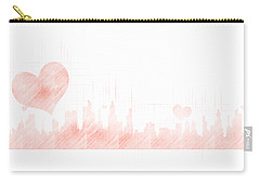 Sketch Of The City Skyline Carry-all Pouch by Anton Kalinichev