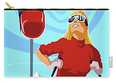 Ski Bunny Retro Ski Poster Carry-all Pouch