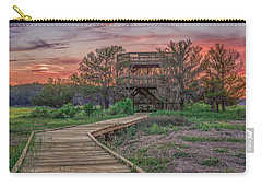 Carry-all Pouch featuring the photograph Skidaway Island State Park Overlook by Rob Sellers