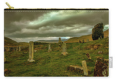Carry-all Pouch featuring the photograph Skies And Headstones #g9 by Leif Sohlman
