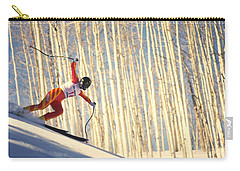 Carry-all Pouch featuring the photograph Skiing In Aspen, Colorado by Travel Pics