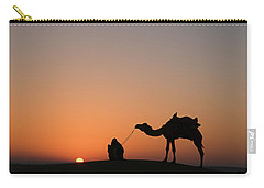Skn 0870 Silhouette At Sunrise Carry-all Pouch