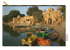 Skn 1391 A Visit To Gadisar Lake Carry-all Pouch by Sunil Kapadia