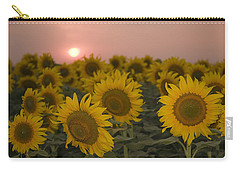 Skn 2178 The Sunflowers At Sunset  Carry-all Pouch by Sunil Kapadia