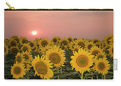 Skn 2179 Sunflower Landscape Carry-all Pouch