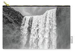 Carry-all Pouch featuring the photograph Skogafoss Waterfall Iceland by Edward Fielding