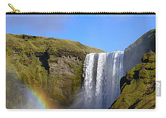 Skogafoss Waterfall With Rainbow 151 Carry-all Pouch