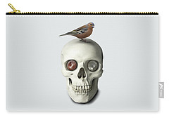 Carry-all Pouch featuring the painting Skull And Bird by Ivana Westin