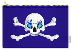 Crossbones 1 T-shirt Carry-all Pouch by Herb Strobino