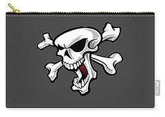 Crossbones 2 T-shirt Carry-all Pouch by Herb Strobino