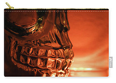 Carry-all Pouch featuring the photograph Skull by Lora Lee Chapman