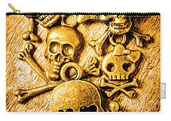 Carry-all Pouch featuring the photograph Skulls And Crossbones by Jorgo Photography - Wall Art Gallery