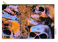 Carry-all Pouch featuring the photograph Skulls by Annie Zeno