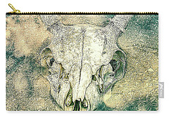Skully In The Clouds Carry-all Pouch by Ronda Broatch
