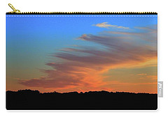 Carry-all Pouch featuring the photograph Sky And Cloud At Sunset Three  by Lyle Crump