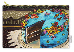 Carry-all Pouch featuring the painting Sky Blue Cake by John Williams