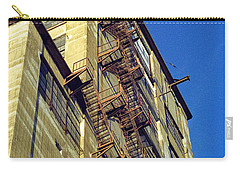 Carry-all Pouch featuring the photograph Sky High Warehouse by T Brian Jones