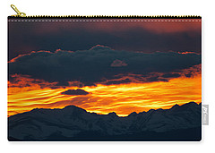 Sky Lava Carry-all Pouch by Colleen Coccia