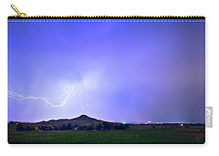 Carry-all Pouch featuring the photograph Sky Monster Above Haystack Mountain by James BO Insogna