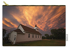 Carry-all Pouch featuring the photograph Sky Of Fire by Aaron J Groen