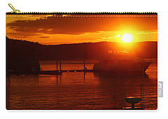 Carry-all Pouch featuring the photograph Sky On Fire by Living Color Photography Lorraine Lynch