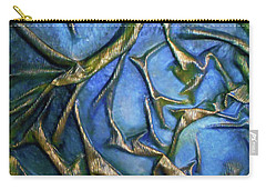Carry-all Pouch featuring the mixed media Sky Through The Trees by Angela Stout