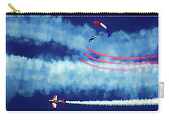 Carry-all Pouch featuring the photograph Skydiver by Trey Foerster