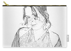 Carry-all Pouch featuring the drawing Skye by Mayhem Mediums