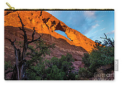 Carry-all Pouch featuring the photograph Skyline Arch At Sunset - Arches National Park - Utah by Gary Whitton