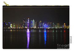 Skyline Of Doha, Qatar At Night Carry-all Pouch by IPics Photography