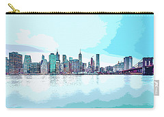 Skyline Of New York City, United States In Blues Carry-all Pouch