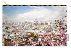 skyline of Paris with eiffel tower Carry-all Pouch