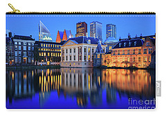 Skyline Of The Hague At Dusk During Blue Hour Carry-all Pouch by IPics Photography