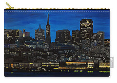 Skyline San Francisco Night Carry-all Pouch by Mike Caitham