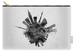Black Skyround / Skyline Art Of Tokyo, Japan Carry-all Pouch