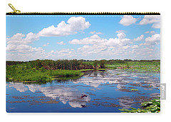 Skyscape Reflections Blue Cypress Marsh Near Vero Beach Florida C5 Carry-all Pouch