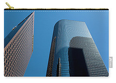 Carry-all Pouch featuring the photograph Skyscrapers Reflect Los Angeles by Lorraine Devon Wilke
