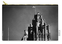 Skyscrapers Then And Now Carry-all Pouch by Frank J Casella