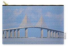 Skyway Bridge Carry-all Pouch by Rosalie Scanlon
