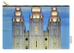 Slc Temple Blue Carry-all Pouch