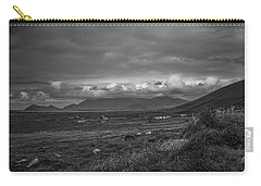 Slea Head Landscape #d4 Bw Carry-all Pouch by Leif Sohlman