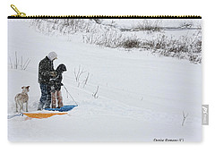 Sledding Carry-all Pouch by Denise Romano