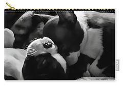 Sleeping Beauties - Boston Terriers Carry-all Pouch by Jordan Blackstone