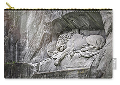 Sleeping Lion Of Lucerne  Carry-all Pouch