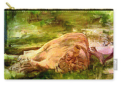 Sleeping Lionness Pushy Squirrel Carry-all Pouch