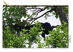 Carry-all Pouch featuring the photograph Sleeping Monkey by Francesca Mackenney